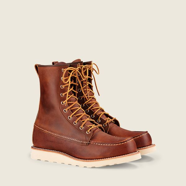 Red Wings Men's Classic MOC 8 Inch Boot Copper