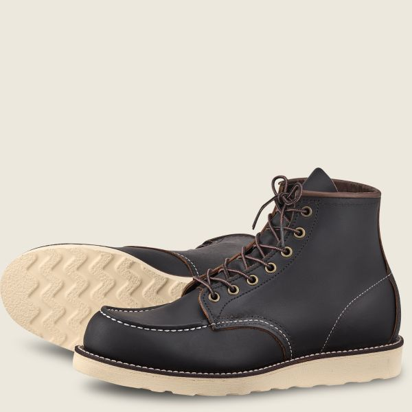 Red Wings Men's Classic MOC 6 Inch Boot Black