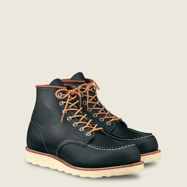 Red Wings Men's Classic Moc 6 Inch Boot Navy