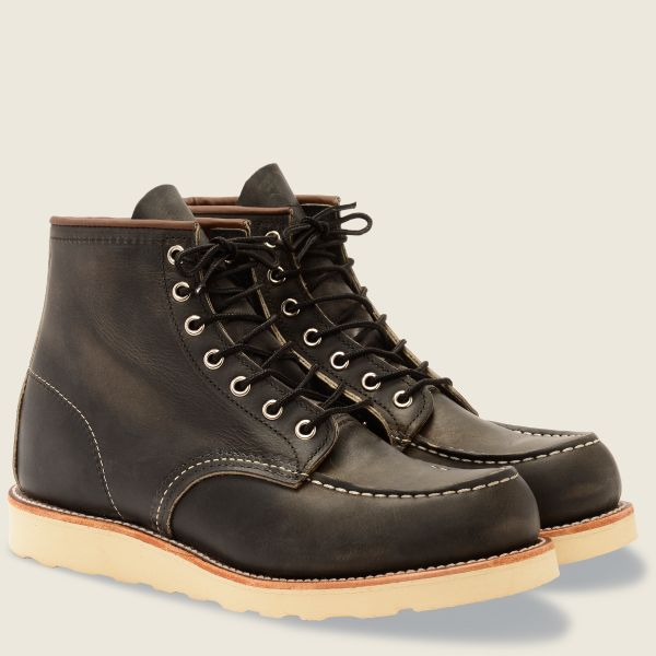 Red Wings Men's Classic MOC 6 Inch Boot Charcoal