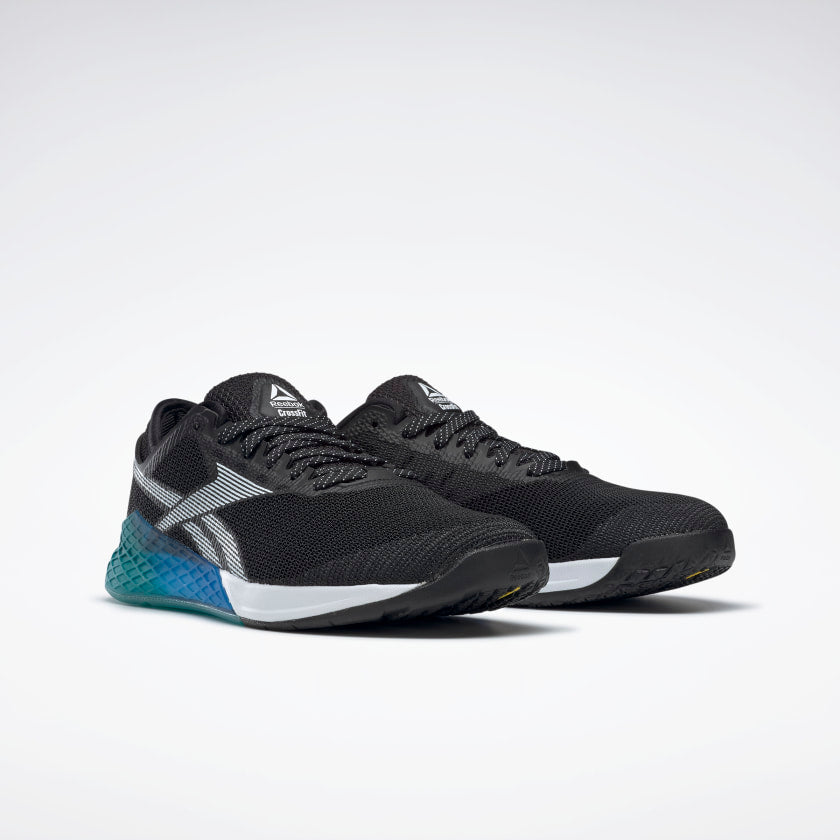 Reebok Men's Nano 9 Training Shoes Black/Seaport Teal/Humble Blue