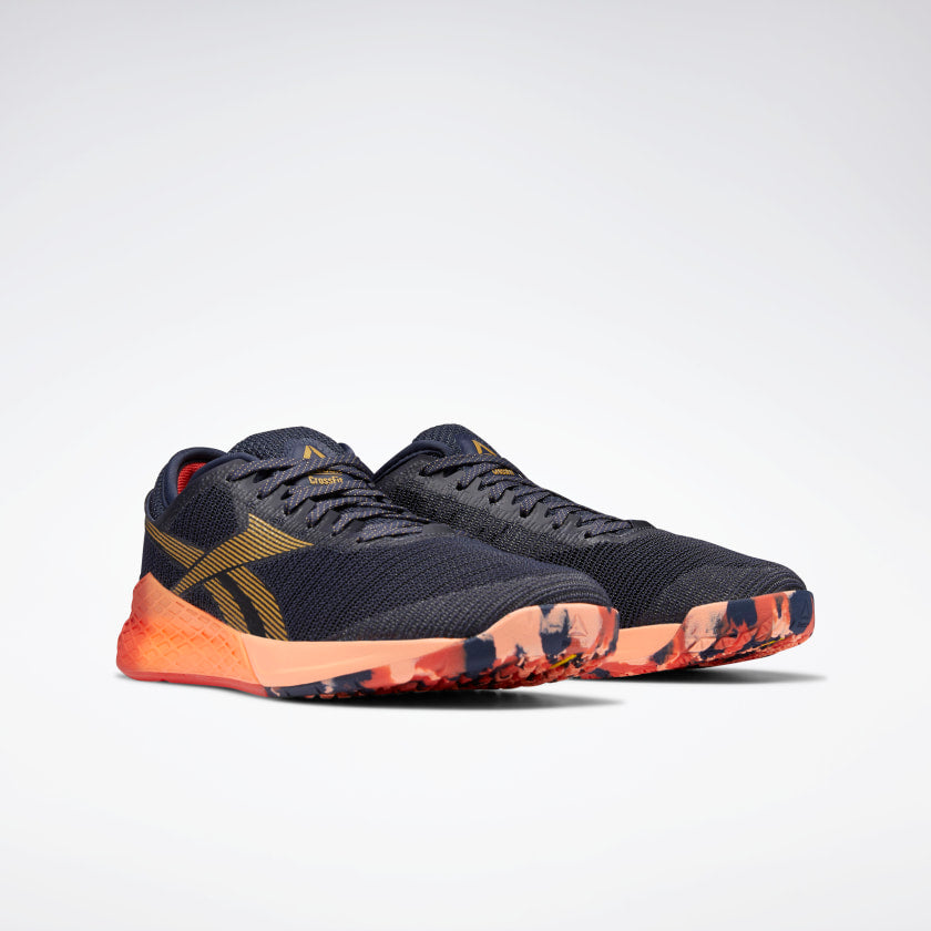 Reebok Men's Nano 9 Training Heritage Navy/Rosette/Sunglow