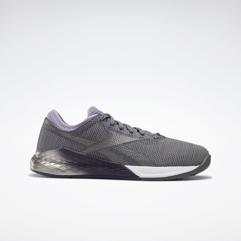 Reebok Women's Nano 9 Training Shoes Cold Gray 6/Violet Haze/White