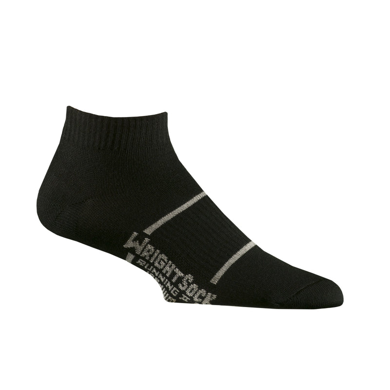Wrightsock Men's Running II Lo Quarter Black