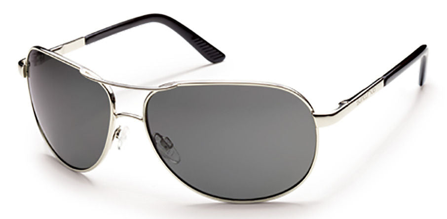 Suncloud Aviator Medium Fit Silver/Polar Gray