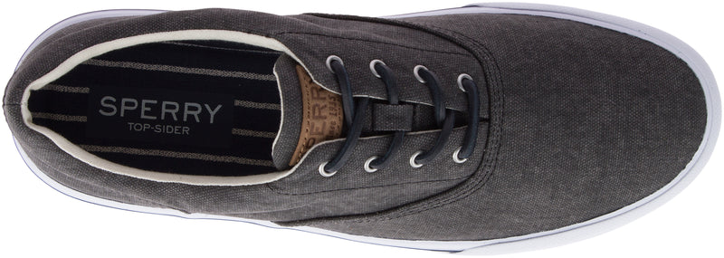 Sperry Men's Striper II Washed CVO Sneaker Black