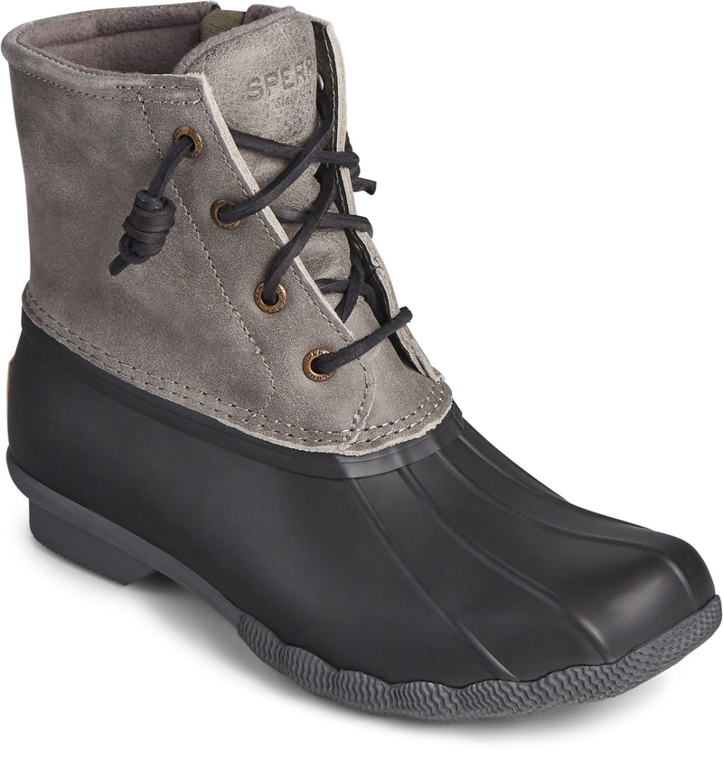 Sperry Women's Saltwater Duck Boot Black/Grey