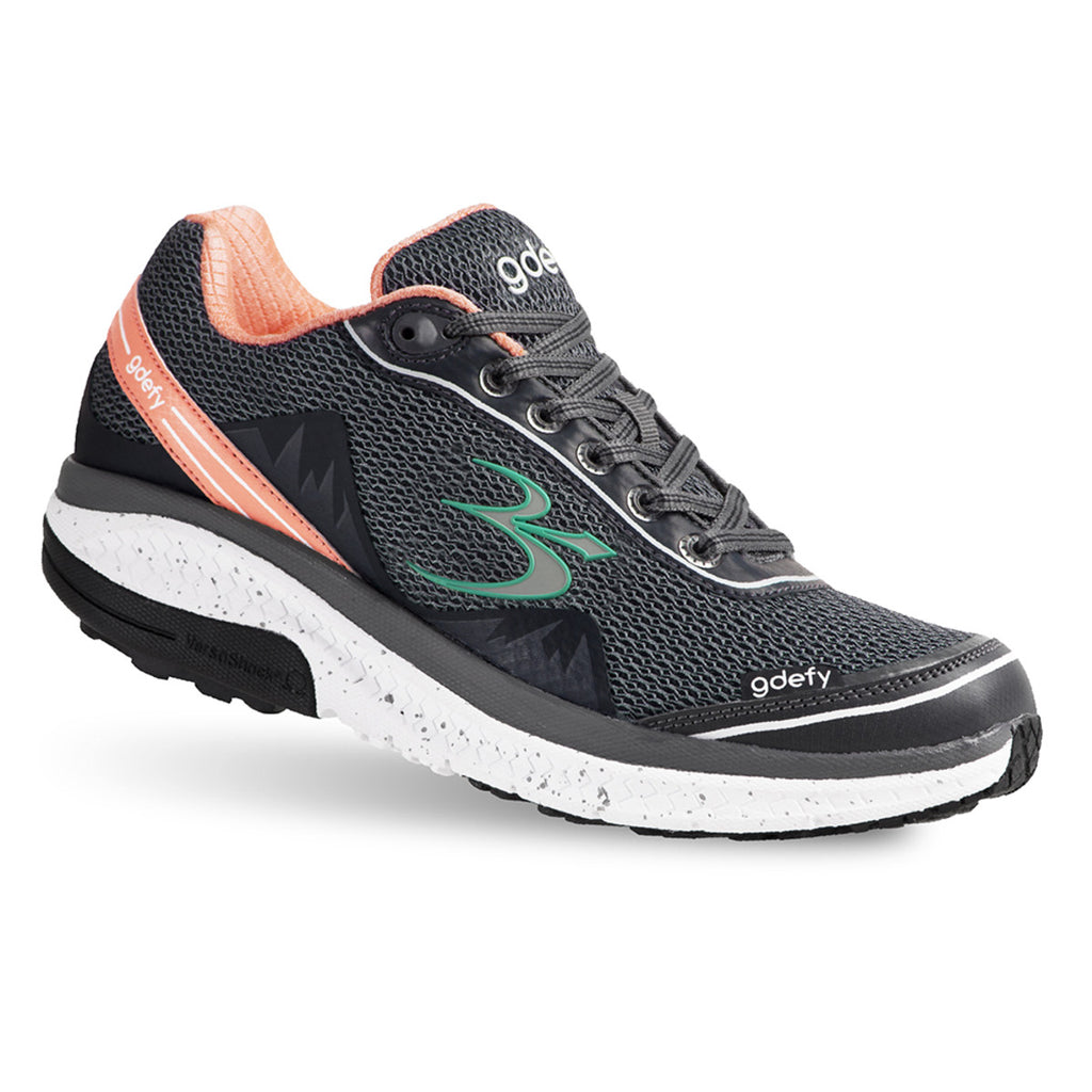 Gravity Defyer Women's G-Defy Mighty Walk Gray/Salmon