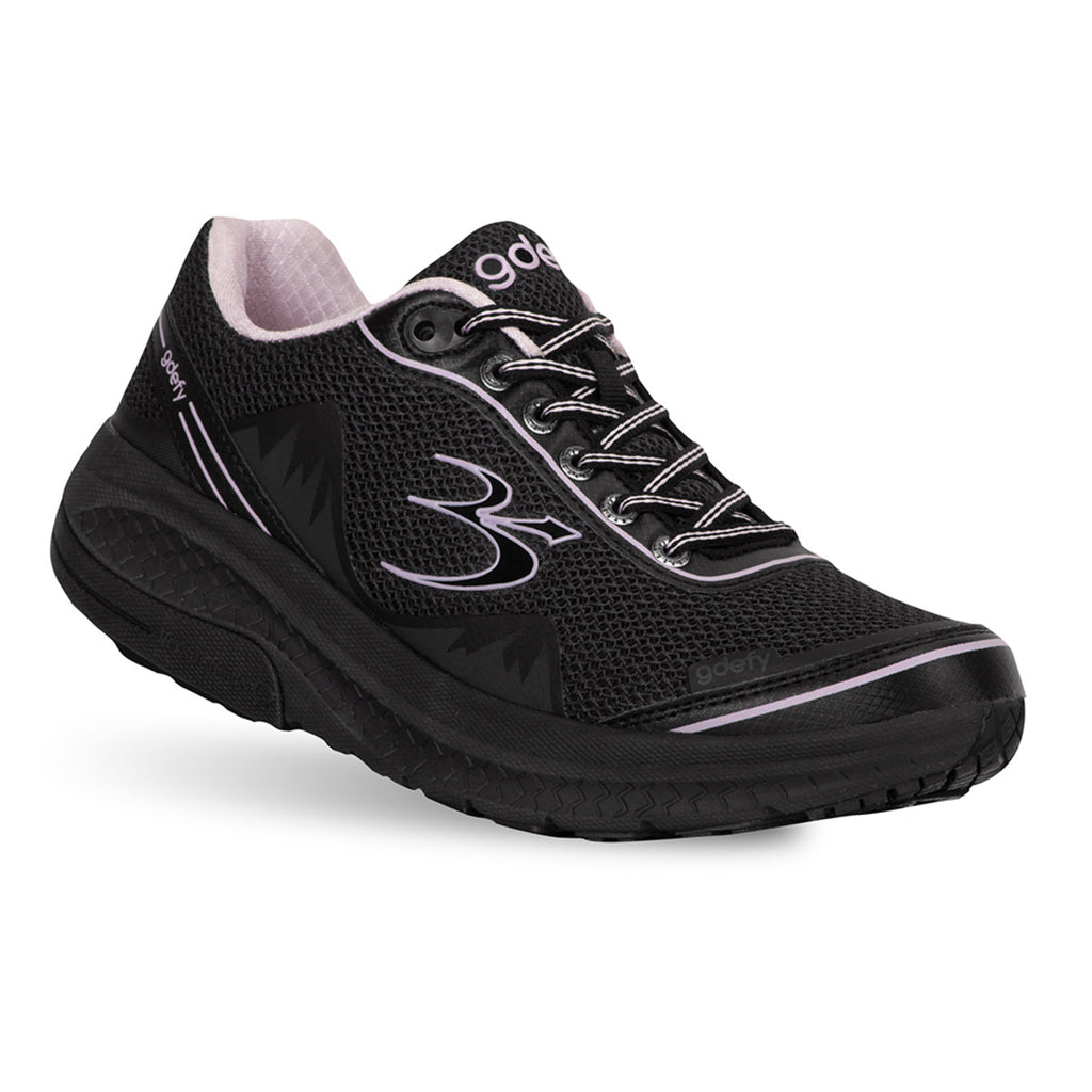 Gravity Defyer Women's G-Defy Mighty Walk Black/Purple Wide