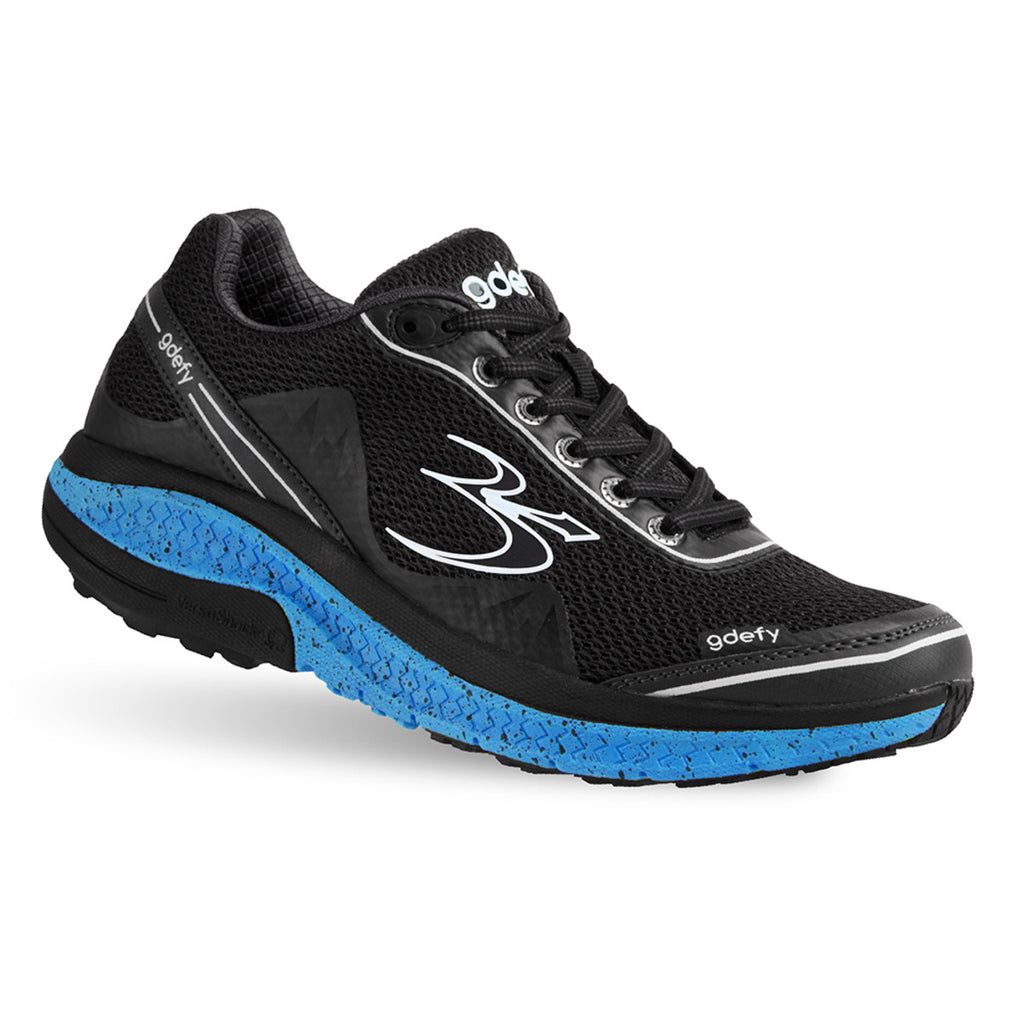 Gravity Defyer Men's G-Defy Mighty Walk Black/Blue Wide
