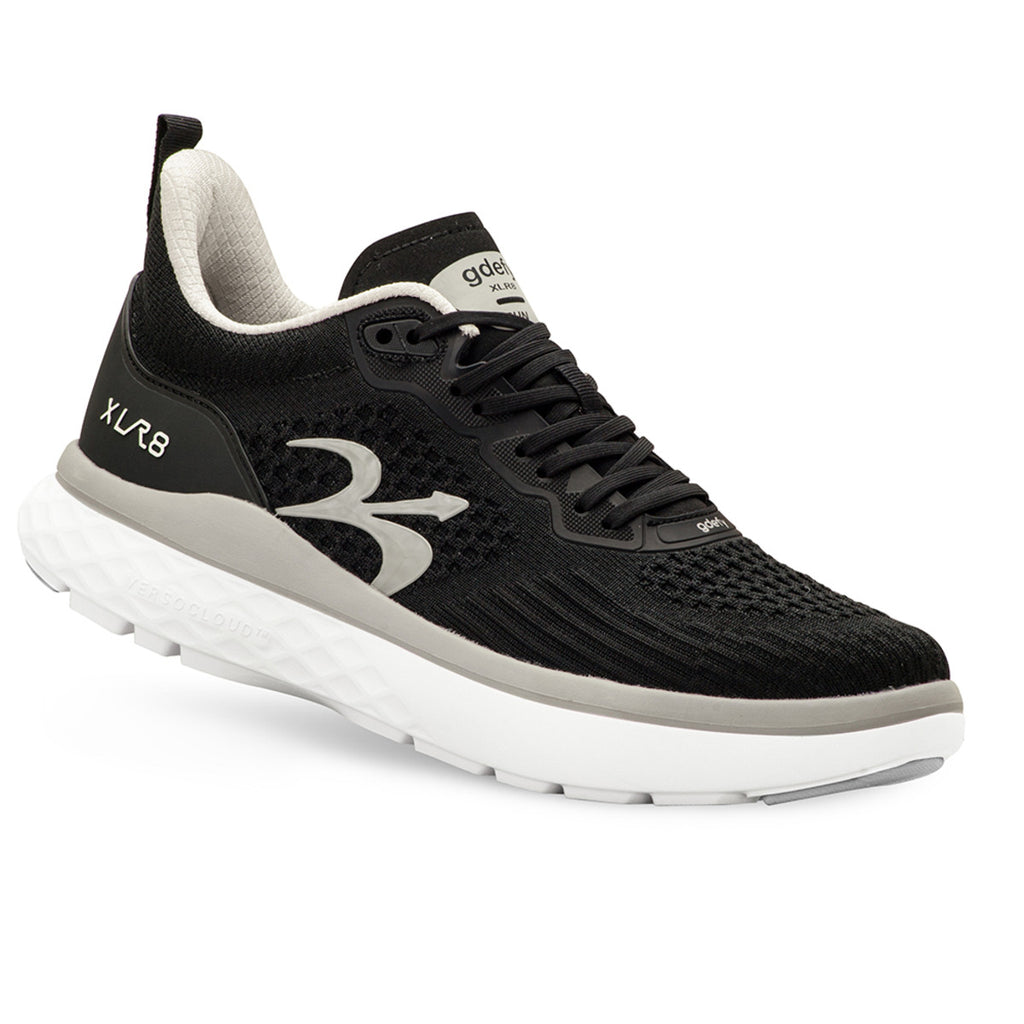 Gravity Defyer Men's G-Defy XLR8 Black/Silver Wide