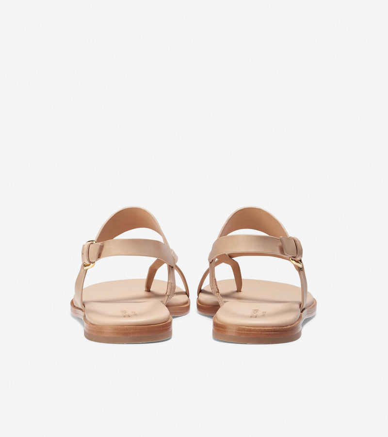 Cole Haan Women's Anica Thong Sandal Nude Leather