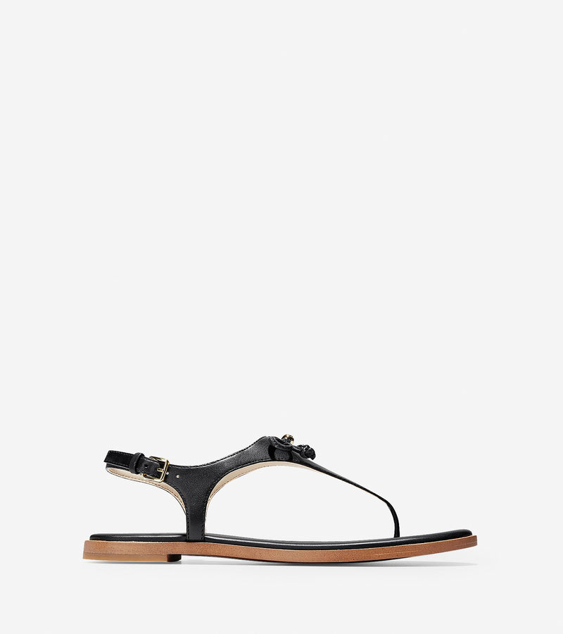 Cole Haan Women's Findra Thong Sandals Black