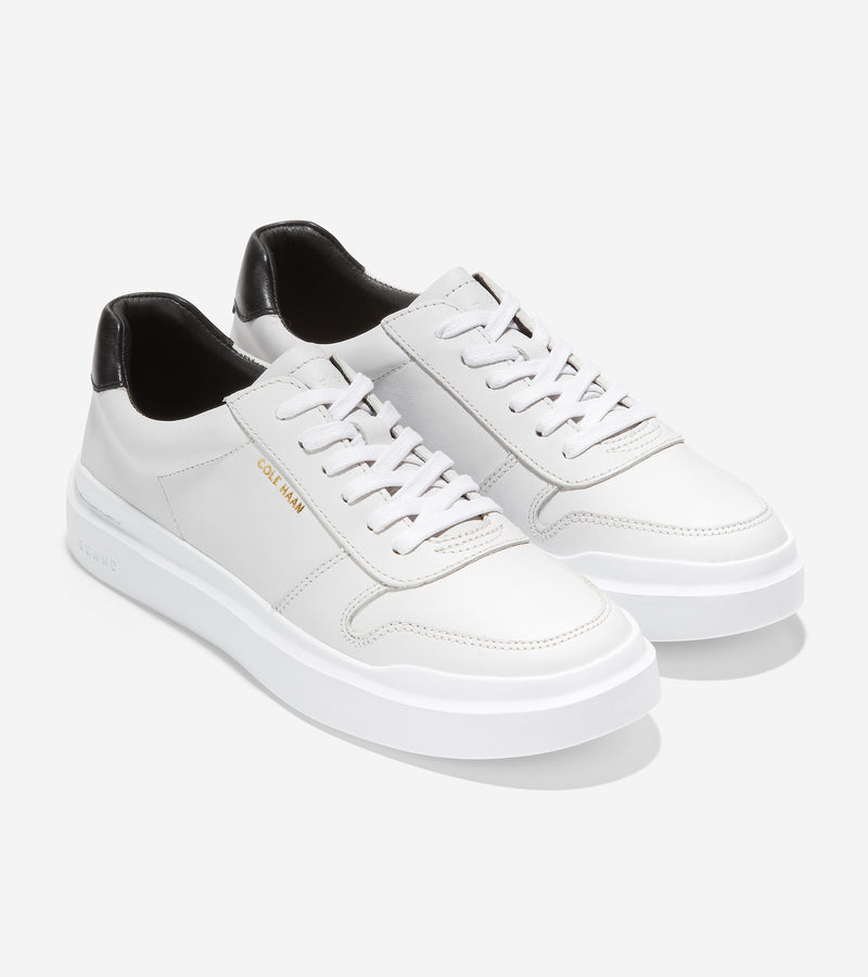 Cole Haan Women's GrandPrø Rally Court Sneaker Optic White/Leather