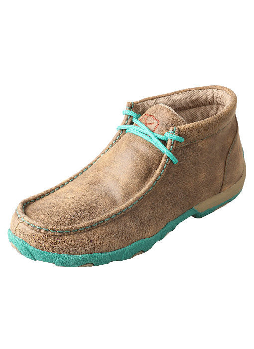 Twisted X Women's Chukka Driving Moc Bomber/Turquoise