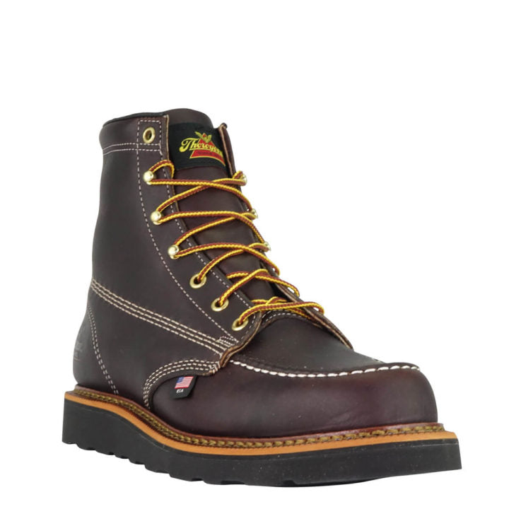 Thorogood Men's American Heritage – 6″ Moc Toe- MAXWear Wedge Black Walnut