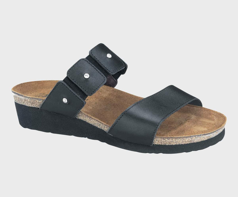 Naot Ashley Sandals Women's Black Madras Leather