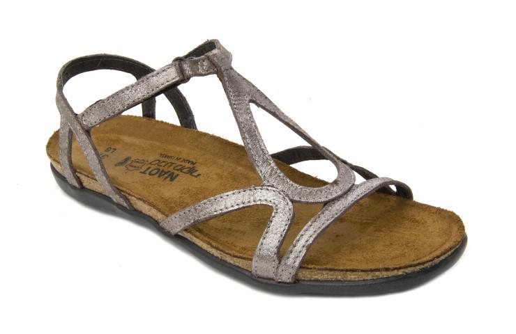 Naot Dorith Women's Sandal Silver Threads Leather