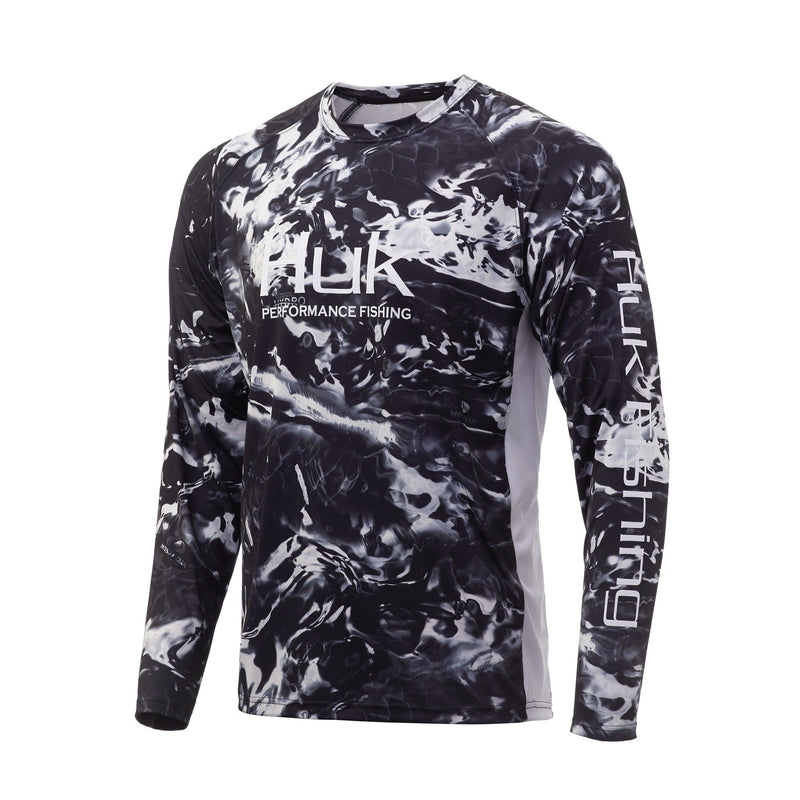 Huk Mossy Oak Pursuit Long Sleeve Hydro Reflex