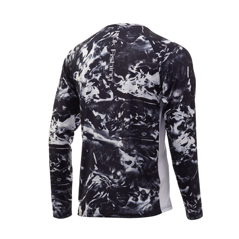 Huk Mossy Oak Pursuit Long Sleeve Hydro Blackwater