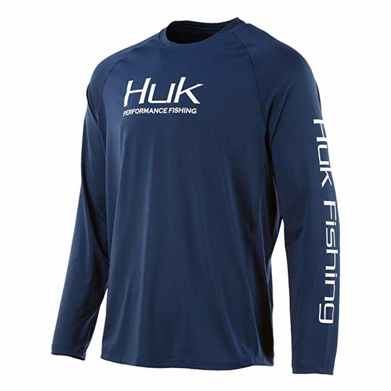 Huk Icon X Long Sleeve Shirt Sargasso Sea