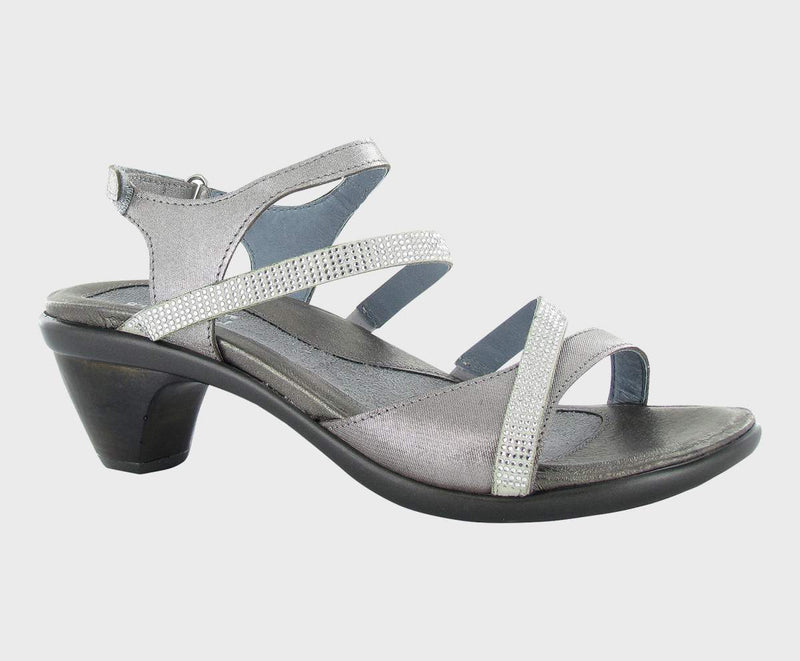 Naot Innovate Sandals Women's Silver Threads/Clear Stones