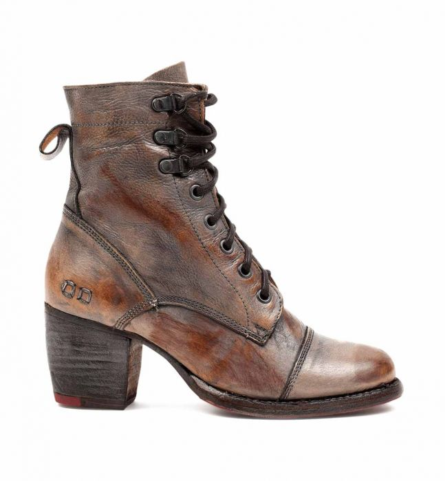 Bed Stu Women's Judgement Ankle Boot Teak Taupe Rustic Mason BFS