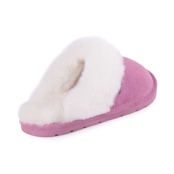 Cloud Nine Ladies Scuff Slippers Pink