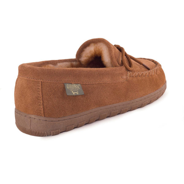 Cloud Nine Men's Sheepskin Moccasin Chestnut