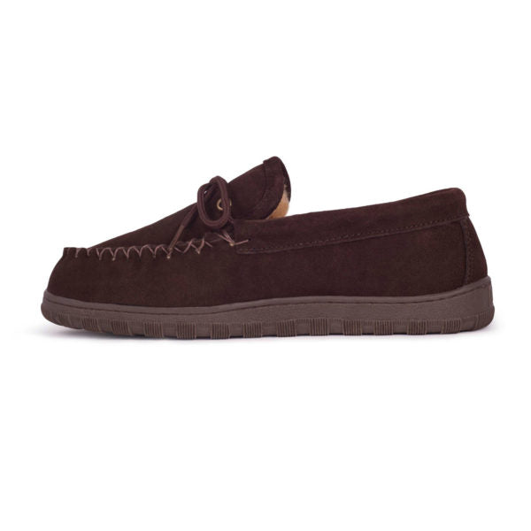 Cloud Nine Men's Sheepskin Moccasin Chocolate
