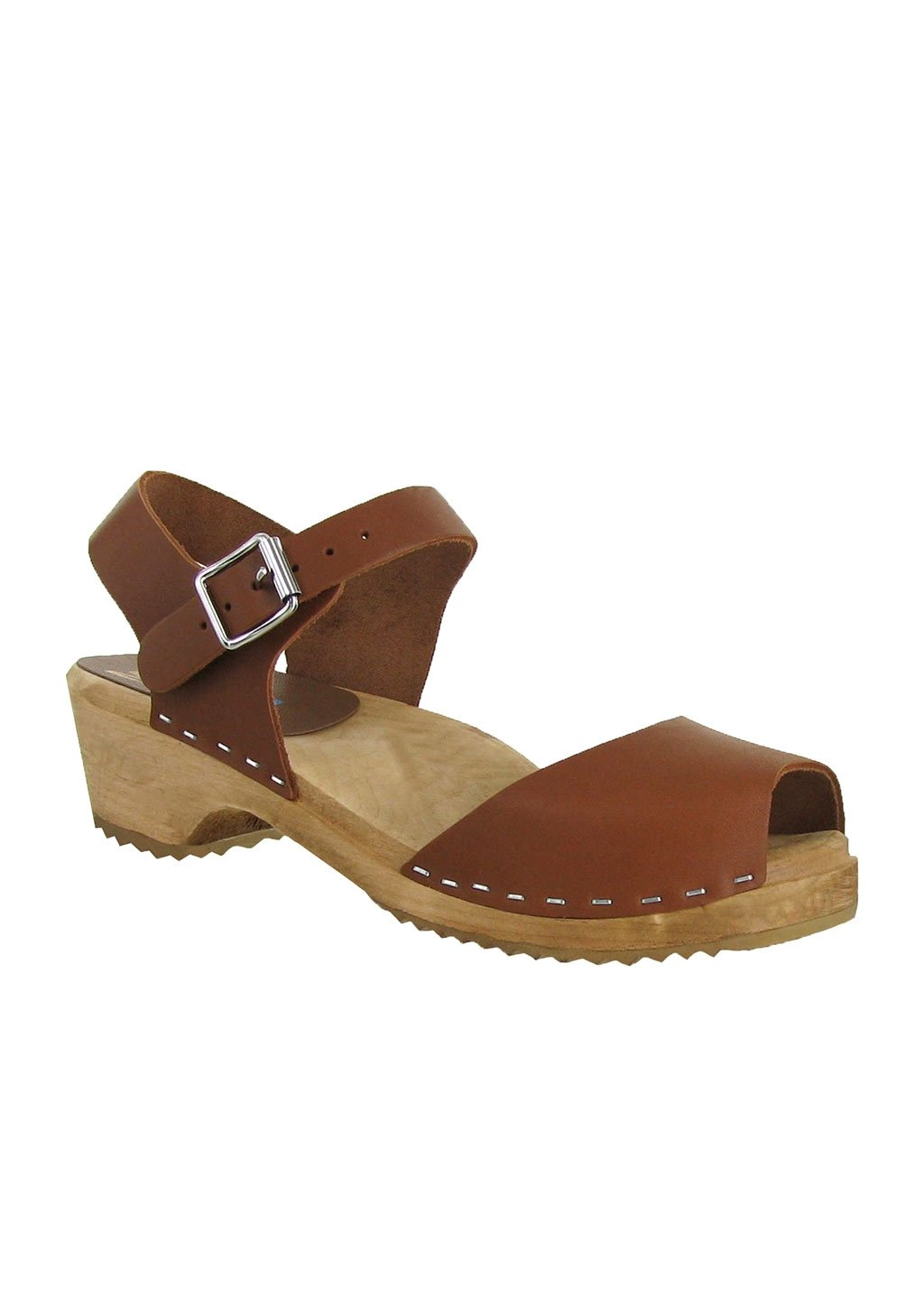 Mia Women's Anja Clog Luggage Leather