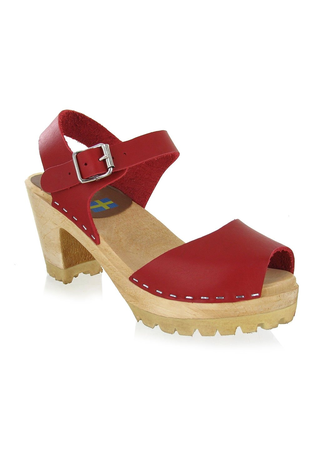 Mia Women's Greta Clog Red Leather