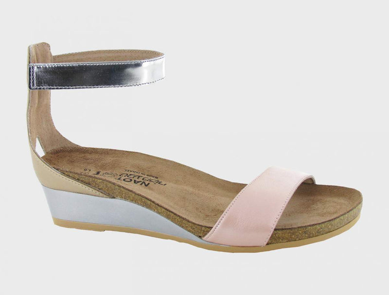 Naot Pixie Sandals Women's Pearl Rose/Champ/Silver Mirror