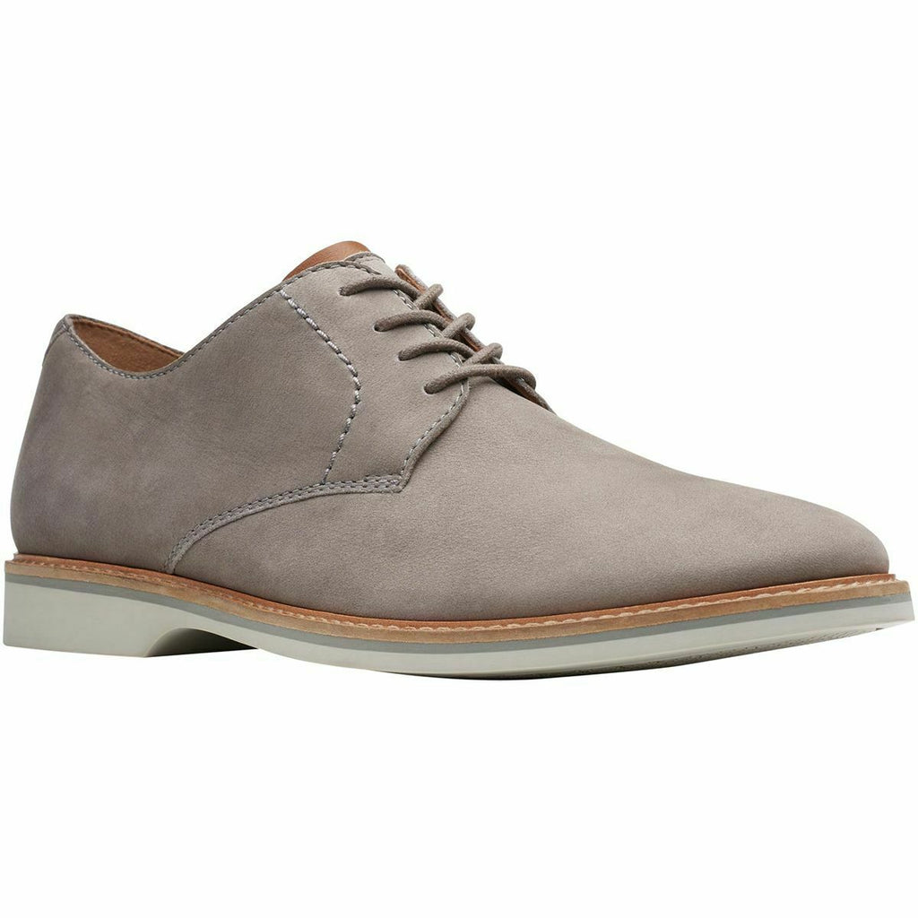 Clarks Atticus Lace Oxford Men's Grey Nubuck