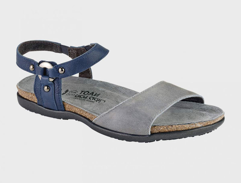 Naot Women's Sabrina Sandals Vintage Slate Leather/Ink Leather