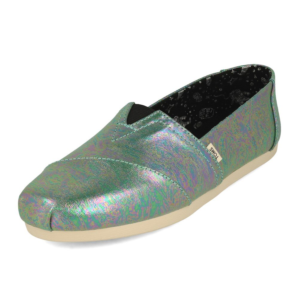 Toms Women's Classic Black Pearlized Metallic Canvas