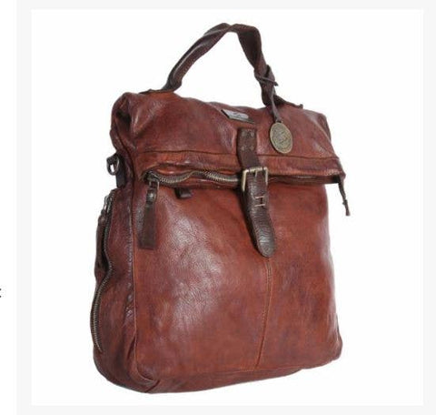 Kompanero Genuine Italian Leather Cognac Backpack-The Jack - ArtistiKIDly Me  As I Am