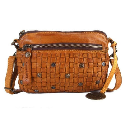 Cognac Sling Handbag,Italian Leather - ArtistiKIDly Me  As I Am