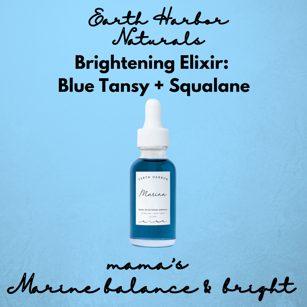 Marina Brightening Elixir:  Blue Tansy + Squalane - ArtistiKIDly Me  As I Am