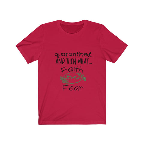 Quarantined Faith over Fear Jersey Premium Tee - ArtistiKIDly Me  As I Am