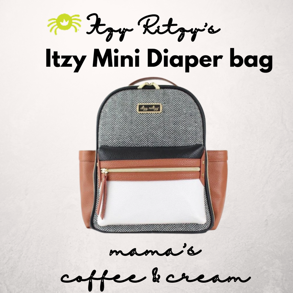Coffee and Cream Mini Diaper Bag Backpack - ArtistiKIDly Me  As I Am