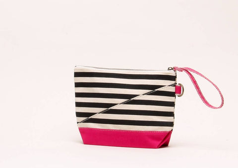 Shore Bag Pink and Black Pouch - ArtistiKIDly Me  As I Am