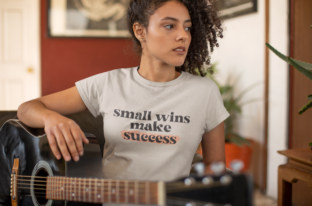 Small Wins Women's Tee - ArtistiKIDly Me  As I Am