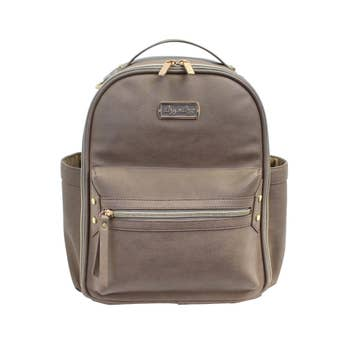 Itzy Ritzy Taupe Mini Backpack Diaper Bag - ArtistiKIDly Me  As I Am