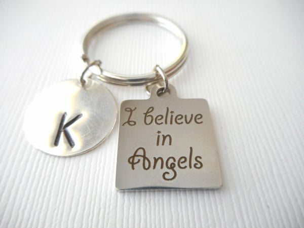 Sister to an Angel, Initial Keychain – Hazel Personalized