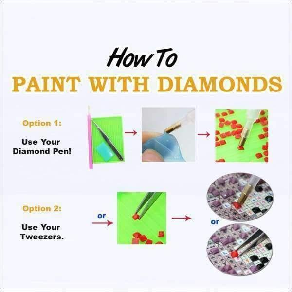 F&S Diamond Painting Kit Spiritual Wolf (Crystal Diamonds - Special Shapes)