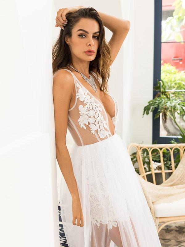 Lace Suspender Dress