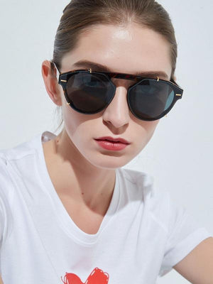 Retro Irregular Frame Sunglasses