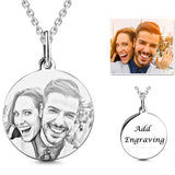Personalized 925 Sterling Silver Photo Silhouette Necklace