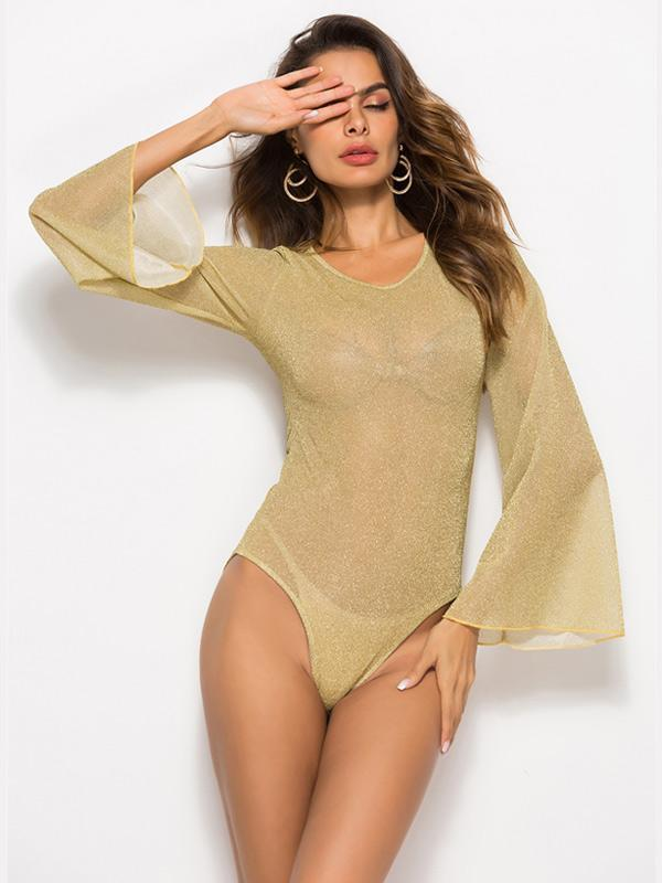 Long-sleeved Slim One-piece Top